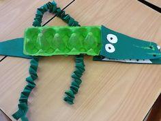 Krokodil knutselen