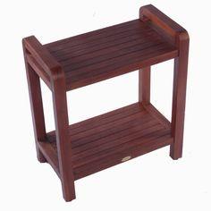 Decoteak Outdoor Teak Ergonomic Bench Storage Shelf or Table & Reviews | Wayfair