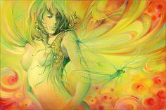 """""""Dragonfly"""" (60X40) by Anna Ewa Miarczynska"""