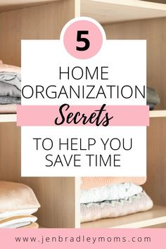 Check out these 5 great home organization hacks that will help you create the organized home you've always wanted! We waste tons of time looking for lost items when we have a clutter surrounding us constantly - so take the time to declutter and start these easy and cheap home organization ideas that can have a huge impact. Also, grab the free printables pack for productive moms!    #homeorganization #homeorganizationideas
