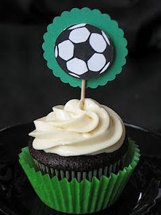 Soccer cake topper