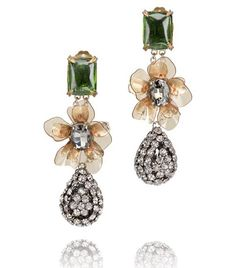 Emerald Stone Diamanté Tear Drop Earring | Womens Earrings & Rings | ToryBurch.com