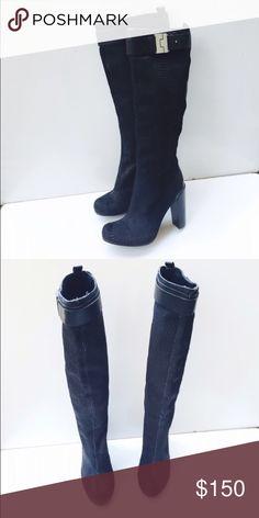 Rachel Zoe Camille Calf Skim Boots Retails for $598. Beautiful boots. Rachel Zoe Shoes Heeled Boots