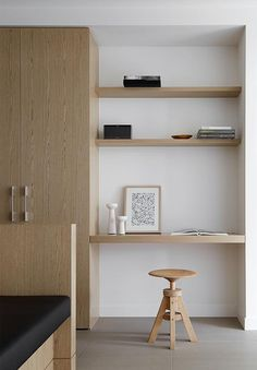 Woonkamer inspiratie  Werkplek in woonkamer  Kastenwand