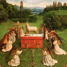 Le retable de l'Agneau mystique (Hubert et Jan van Eyck, 1432, musée des Beaux-Arts, Gand)