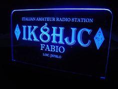 *NICE GIFT* HAM Radio Amateur Radio License Call Sign White /& Black Plaque
