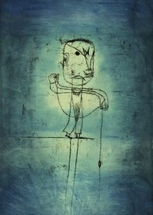 Der Angler by Paul Klee.oil transfer drawing, watercolor and ink on paper with watercolor and ink borders on board; Ernst Ludwig Kirchner, Wassily Kandinsky, Pablo Picasso, Art Dégénéré, Paul Klee Art, Degenerate Art, Form Design, Art Moderne, Art Graphique