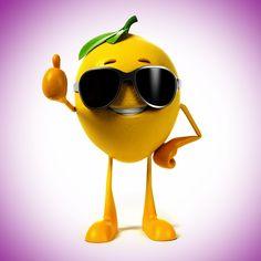 2048x2048 Wallpaper limão, 3d, óculos, fruta