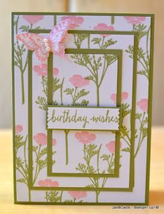 JanB Handmade Cards Atelier: Video - Triple Layer Stamping using Two Step Stamps