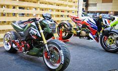 Honda Grom 125, Honda Grom Custom, Grom Bike, Honda Msx, Supercars, Blue Lamborghini, Motocross Girls, Custom Street Bikes, Honda Bikes
