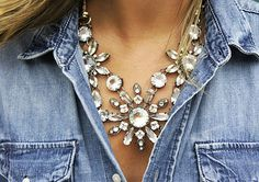 Big Bling mixed with basics that are earthy and fun make an interesting contrast