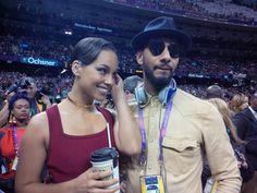 Alicia Keys acudió con su marido, Swizz Beatz, a la Super Bowl #cantantes #singers #famosos #people #celebrities
