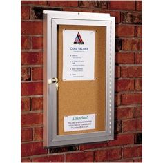 Best-Rite Standard Wall Mounted Enclosed Bulletin Board Size: 4' x 10', Back Panel: Granite Fabric