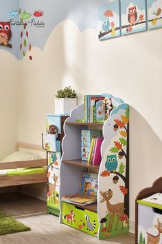 Shop for Fantasy Fields Enchanted Woodland Bookshelf.Save room for reading! The Enchanted Woodland bookcase is just the place to store all of your children‰۪s favorite bedtime stories, pictures, and trophies! Toddler Bookcase, Bookshelves Kids, Wooden Bookcase, Toddler Furniture, Kids Storage, Toy Boxes, Kids Bedroom, Playroom, Room Decor