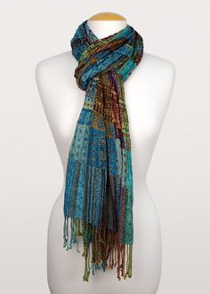 A burst of understated colour flows through in this beautifully handmade scrunched scarf crafted from wearable viscose. A favourite all year long. Fair Trade Jewelry, Scarves, My Style, Unique, Handmade, Shawls, Clothes, Beauty, Centre