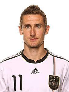 My man Miro, has a nose for the goal like no other when he plays for his country.  Miroslav Klose (Germany)