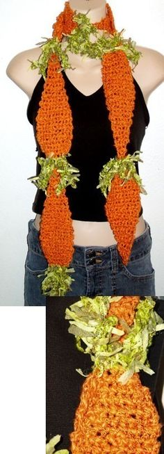 DIY Crochet food art crochet pattern for carrot by dianelangan, $5.00
