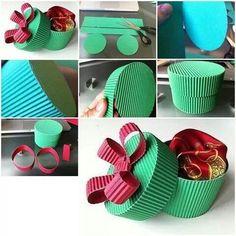 Patrones para hacer cajas de papel corrugadas con tapa