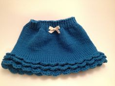 Items similar to Knitted baby skirt with crochet ruffle months) on Etsy Knitting For Kids, Baby Knitting Patterns, Baby Patterns, Boho Shorts, Lace Shorts, Crochet Ruffle, Baby Skirt, Little Falls, Fall Baby