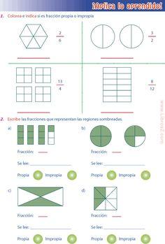 13 Ideas De Mat Fraccion Propia Fracciones Para Primaria Fracciones Impropias
