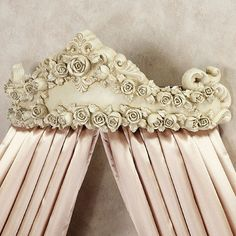 OMG isn't this crown gorgeous?? I am so going to buy one. Check out www.touchofclass.com Victoria Rose Wall Teester Bed Crown