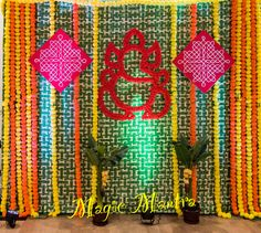 MagicMantra will helps you to make your events more memorable. Marriage Hall Decoration, Engagement Stage Decoration, Stage Decorations, Baby Shower Decorations, Flower Decorations, Wedding Decorations, Indian Baby Showers, Haldi Ceremony, Naming Ceremony