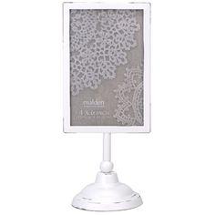 Found it at Wayfair - Vertical White Pedestal Picture Frame