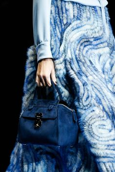 Giorgio Armani Fall 2015 Ready-to-Wear - Details - Gallery - Style.com BLUE PALETTE