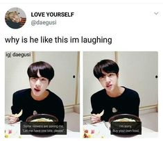 Lol I'd say that Seokjin, Namjoon, Bts Jin, Bts Bangtan Boy, Bts Pictures, Photos, Jin Dad Jokes, Cypher Pt 4, Bts Memes Hilarious