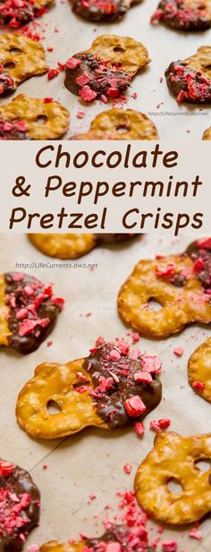 Chocolate and Peppermint Covered Pretzel Crisps. The flavor combination of chocolate and peppermint is a classic year-round combo. And, if you've got leftover candy canes, this is a great way to use them up! Easter Recipes, Holiday Recipes, Snack Recipes, Dessert Recipes, Christmas Recipes, Drink Recipes, Fall Recipes, Christmas Ideas, Fun Desserts