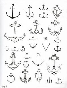 I want an anchor tattoo. Some of these are really cute.