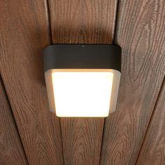 Außenwandleuchte Annu Alu Dunkelgrau LEDs Warmweiß Außen Leuchte Lampenwelt LED