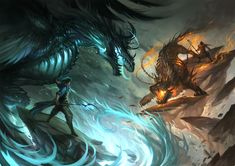 Mage battle by *sandara on deviantART