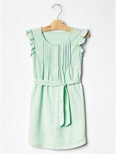 Pintuck flutter jersey dress Gap  Mint XL & Blue L