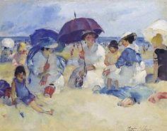 Martha Walter (American Impressionist, 1875–1976) On The Beach