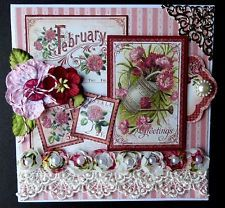 Graphic 45 Time to Flourish Handmade Greeting Card February/Valentine