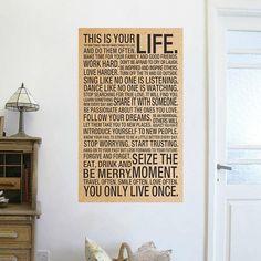 Это ваша Жизнь вдохновляющие слова kraft бумажные плакаты стены стикеры room decor 0234. главная наклейка ретро котировки фрески искусства 5.0 купить на AliExpress