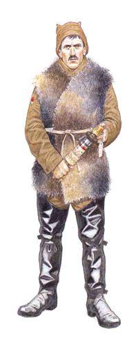 Soldado de Infantería con ropa de trinchera, Bélgica, invierno de 1915. Pin by Paolo Marzioli