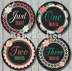 FREE GIFT Monthly Baby Stickers Baby Month by BabySmilesBoutique