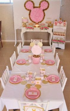 Pink & Gold Minnie Mouse Party