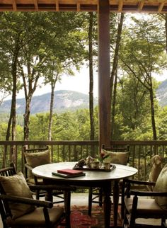 Cashiers NC porch Kathleen Rivers Garden and Gun Magazine - Talk of the House