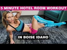 5 Minute Hotel Room Workout from Boise Idaho | Zuzka Light