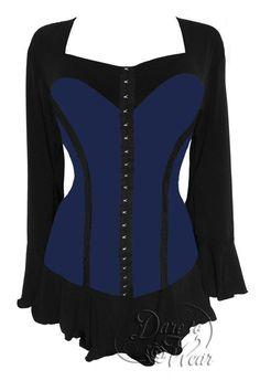 Dare To Wear Victorian Gothic Women's Corsetta Corset Top Midnight