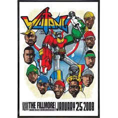 Gig Poster, Concert Posters, Poster Prints, Music Posters, Miami Beach, Wu Tang Clan Members, Voltron Poster, Graffiti, Martial Arts Movies