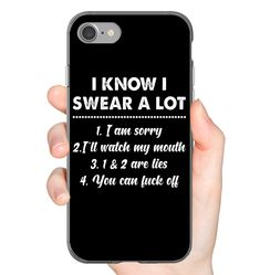 I Know I Sear A Lots Funny iPhone Case & Funny Samsung Gelaxy Case Flexi, Tough And Slim Phone Case - Funny iPhone Case - Phonecases Funny Phone Cases, Cool Iphone Cases, Iphone Phone Cases, Iphone Case Covers, Sarcastic Shirts, Funny Shirt Sayings, Funny Shirts, Friends Phone Case, Phone Plans