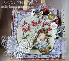 Tilda with Lovely Lace Shoes, Sweet Crazy Love, Magnolia stamps