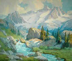 """High Sierra Run-Off,"" Marion Kavanaugh Wachtel, watercolor, 23 x 27 1/2"", Colton Fife Gallery."