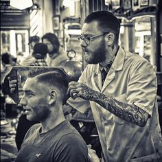 Juvenile Janus and another satisfied patron groomed with @reuzel pomade. #schorem #scumbag #reuzel #rotterdamnbarbers #hardpart