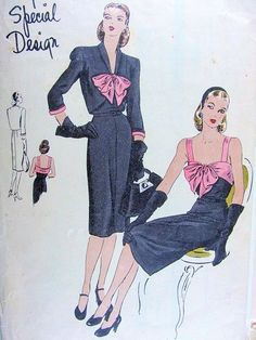 Authentic vintage sewing patterns: This is a fabulous original dress making pattern, not a copy. Because the sewing patterns are vintage and pre