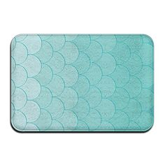Small Indoor Outdoor Entrance Rug, Floor Mats, Non Slip Doormat for Front Door, Entrance Mat, Bath Mat Machine Washable Stylish Welcome Mats Teal Mermaid Scales Pattern * Details can be found by clicking on the image. (This is an affiliate link)